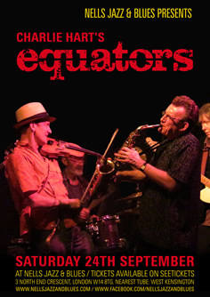 Charlie Hart's Equators performing at Nells Jazz & Blues